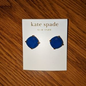 Kate Spade Blue and Gold Gumdrop Earrings